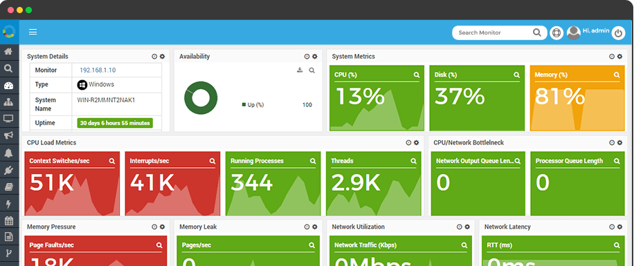 Network Monitoring Dashboard